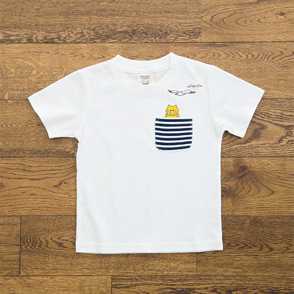 ノラネコぐんだん Tシャツ かもめ 白(キッズ、レディース、メンズ) キッズ(100cm,110cm,120cm,130cm)、レディース(S,M,L)、メンズ(M,L)