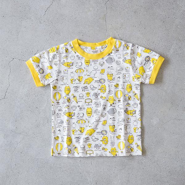 ノラネコぐんだん Tシャツ バラエティ 黄 キッズ(100cm、110cm、120cm、130cm)