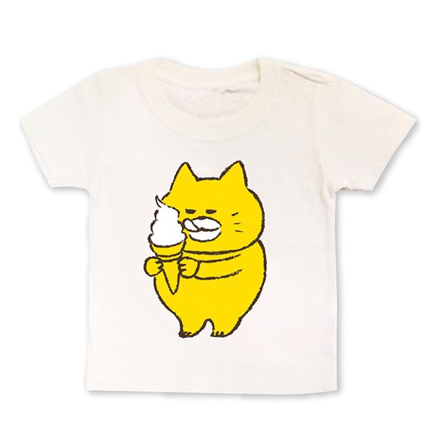 ノラネコぐんだん キッズTシャツ ソフトクリーム(100cm、110cm、120cm、130cm)