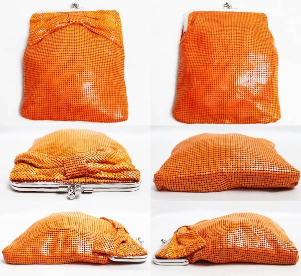 ANTEPRIMA アンテプリマ パーティーバッグ ポーチ マルチケース リボン オレンジ<br />★【中古】【美品】【質屋出品】