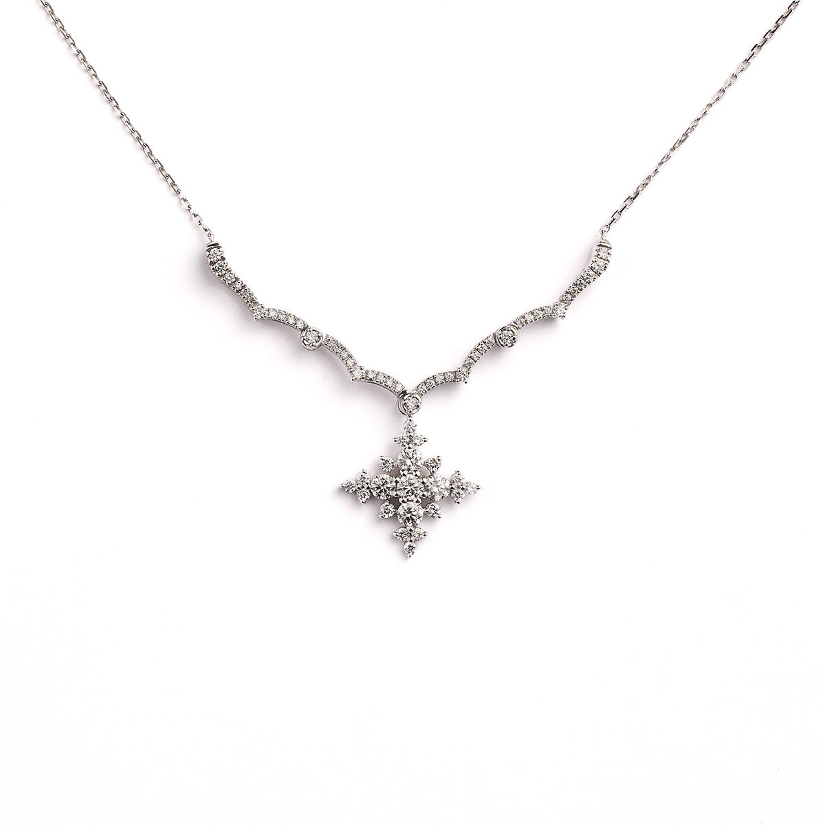 K18WG Diamond Pendant