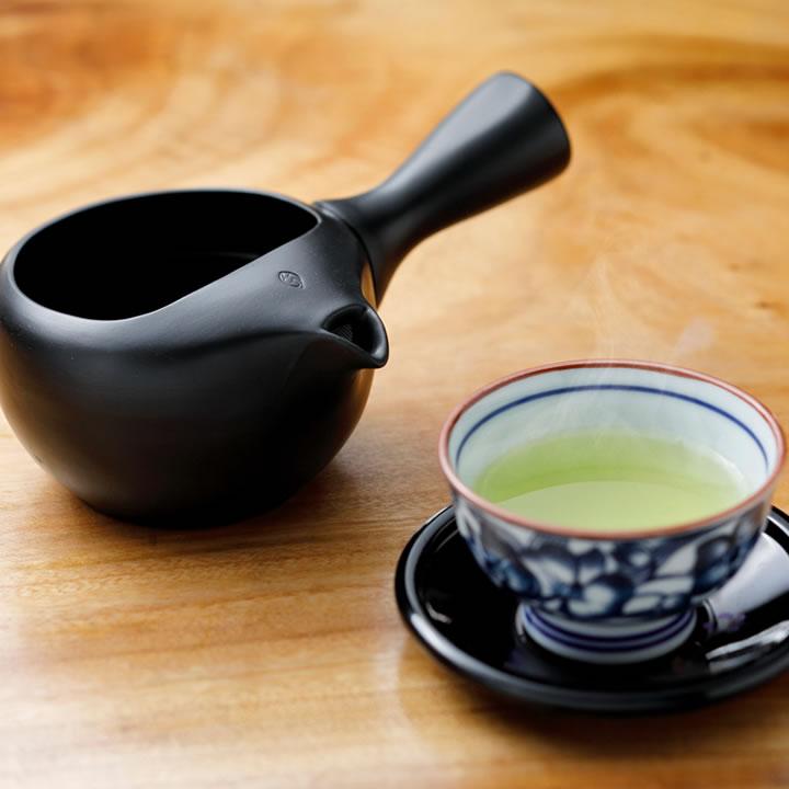 オープン急須 〜玄 KURO〜 380ml 福岡県茶業青年団オリジナル