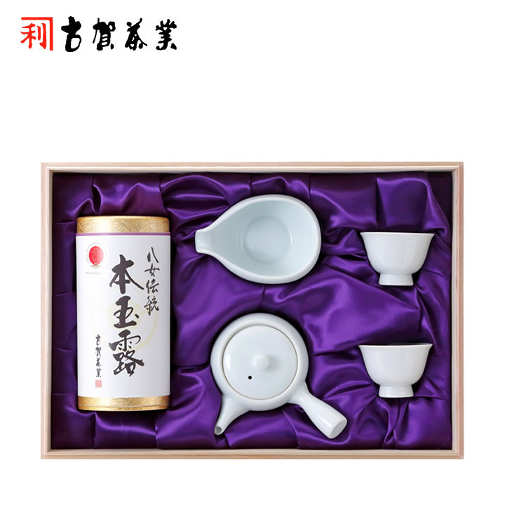 【八女伝統本玉露】玉露 100g 茶器セット