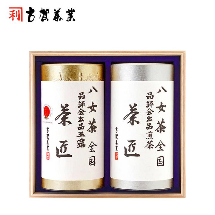 【八女伝統本玉露】全国茶品評会 玉露・煎茶詰合せ 200g