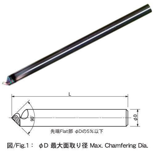 トグロンシャープSP90°超硬 ロングタイプ DLCコーティング
