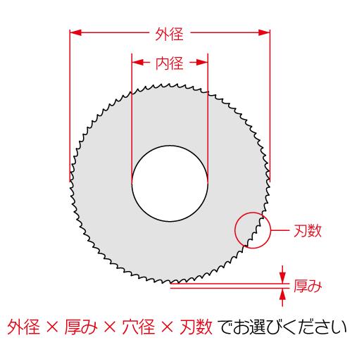 トシマハイス材フライスカッター普通刃 45径