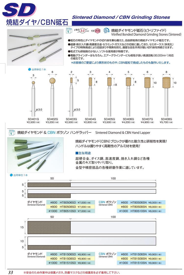 焼結ダイヤ/CBN砥石P33-P34