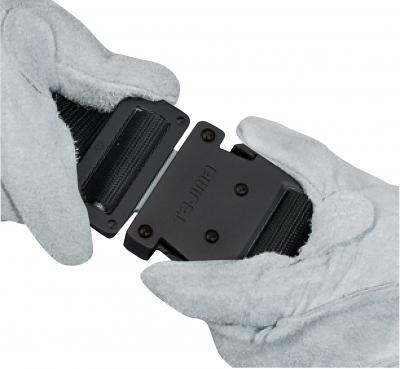 タジマ BWBCS110-BK 鍛造アルミワンタッチブラックバックルカーブ 安全帯胴ベルト 黒色 Sサイズ Tajima