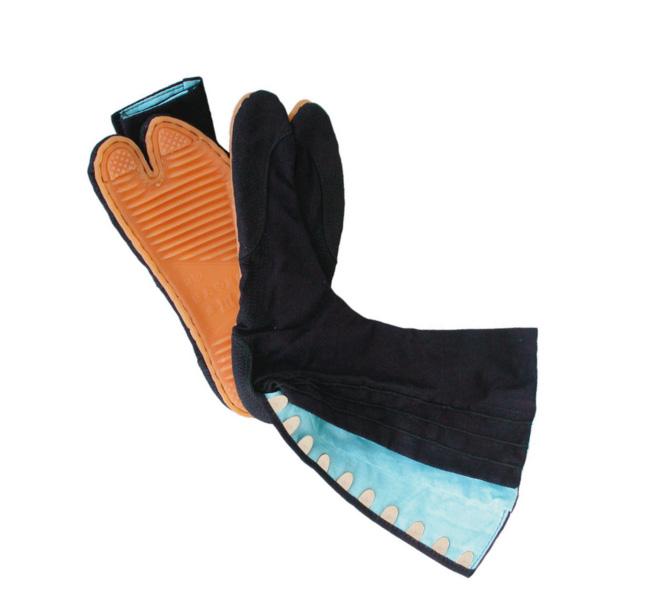 きねや無敵地下足袋 青縞 10枚こはぜ 藍染 総二重縫 手縫い底 きねや足袋