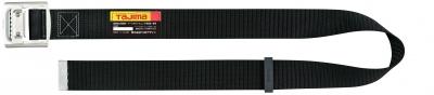 タジマ BAM125-BK アルミワンフィンガーシルバーバックル 安全帯胴ベルト 黒色 Mサイズ Tajima