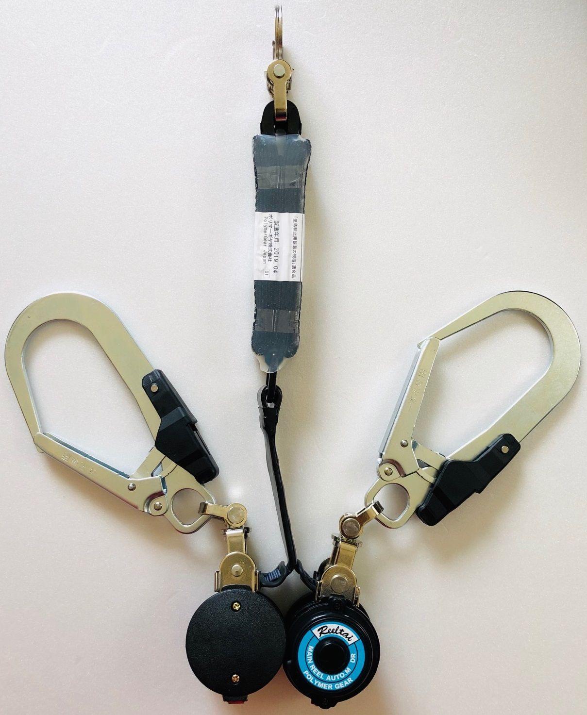 ポリマーギヤ WDR/RNC-M-51S-F8 NB ハーネス用ポリマーリールダブル 巻込み防止付