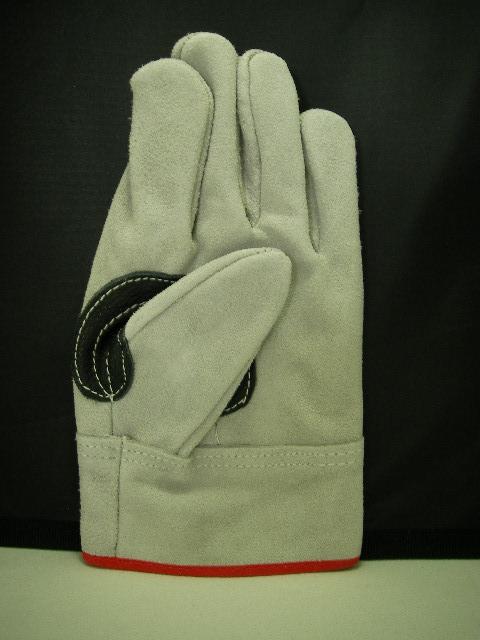 のばのば B1004 高級外縫い本革黒当 皮手袋 10双組