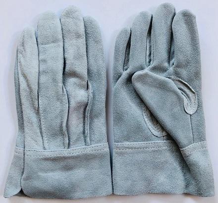 白馬印 特級皮手袋ゴールド 牛皮手袋 日本製 ダブルオイル加工 10双組