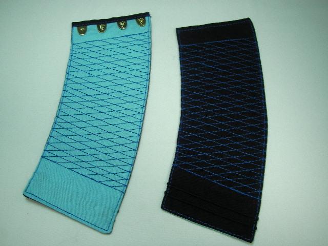 富士ゴーリキ印 藍染め手甲 4枚こはぜ 青刺 富士強力