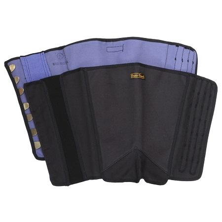 荘快堂 K-40 脚絆7枚 ナイロン綿布使用 黒 ※メーカー在庫確認商品