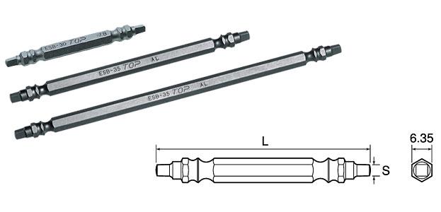 TOP ESB-3.0P-150 電動ドリル用四角ビット 3.0 マグネット付 (150mm) 2本入