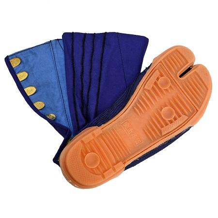 荘快堂 M-1000-8F 安全足袋 踏み抜き防止板入り 8枚ハゼ ※メーカー在庫確認商品