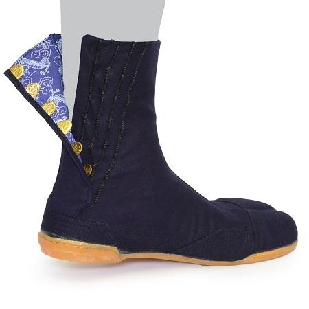 荘快堂 MW-307P 安全足袋 昇龍 7枚コハゼ 藍染め足袋 ※メーカー在庫確認商品