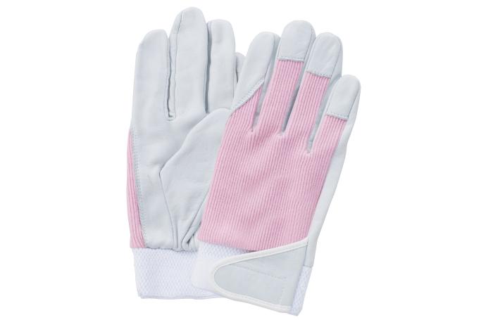 富士グローブ J-401 プロハンズ 牛皮甲メリヤスマジック付 女性用皮手袋 10双組 ※メーカー在庫確認商品