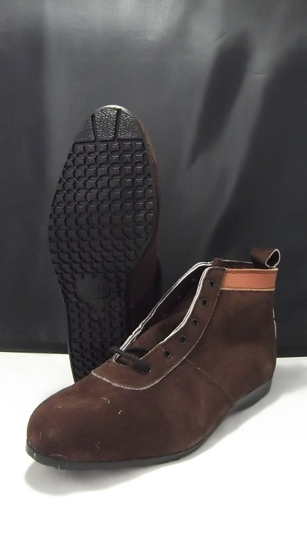 青木産業 AG-25 編上安全靴 茶 椿モデル ateneo ※メーカー在庫確認商品