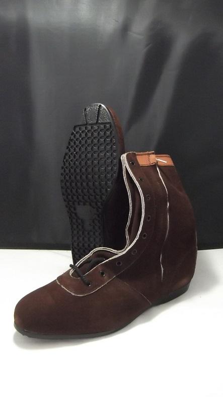 青木産業 AG-35 長編安全靴 茶 椿モデル ateneo ※メーカー在庫確認商品