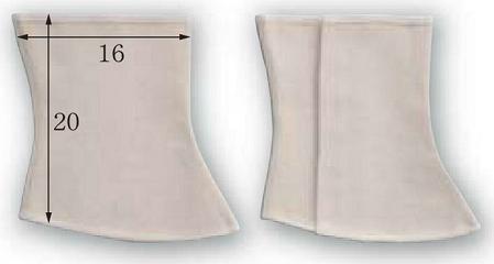 富士グローブ CAN-404M 帆布足カバーマジック式フック付 Mサイズ 10組 綿100%布製足カバー ※メーカー在庫確認商