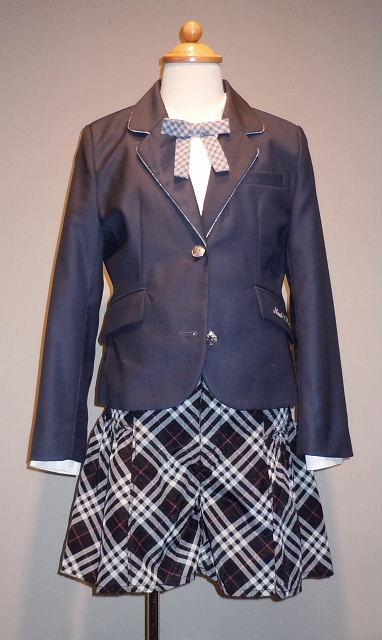 ドレス 1104-1 150cm ジャケット、スカート、シャツ、ネクタイの4点セット