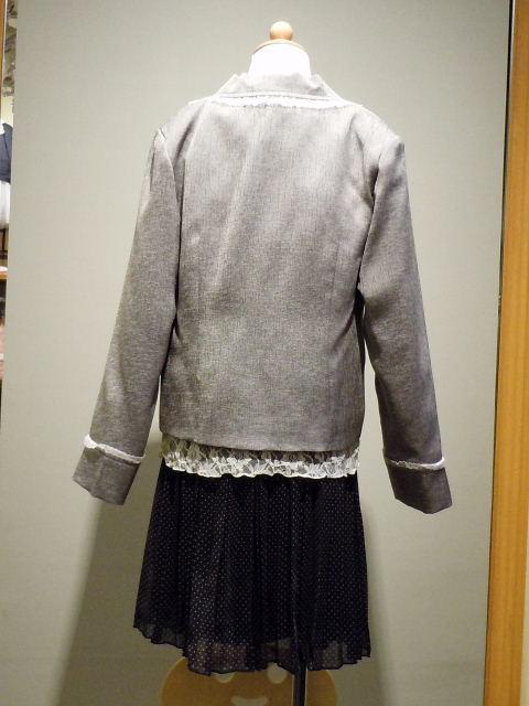 ドレス 1113-1  130cm ジャケット、スカート、ブラウス、3点セット