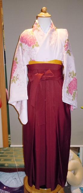 和装ジュニア着物と袴セット E-310+H-310 140cm150cm160cm
