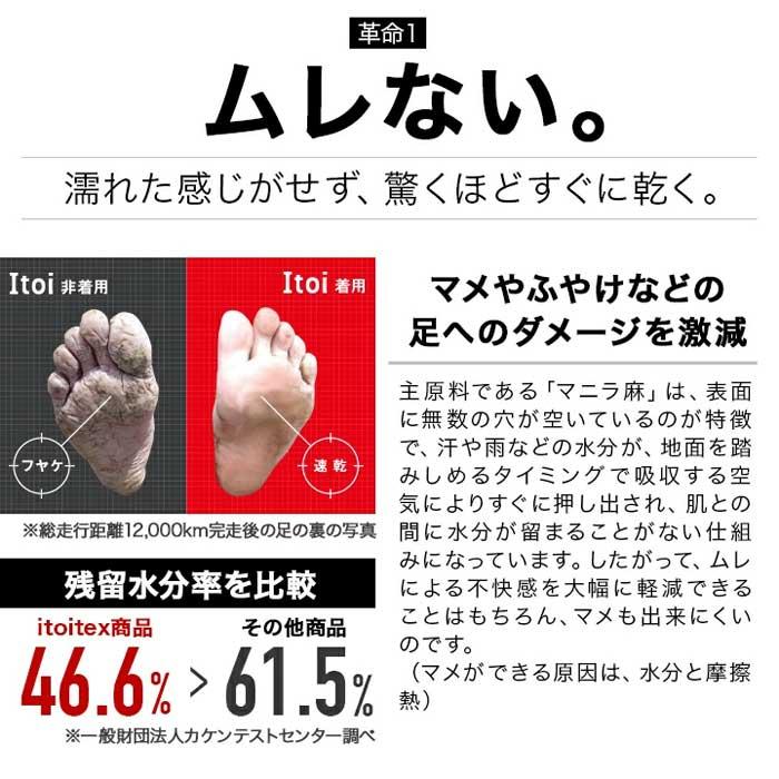 イトイエックス itoix ランニングソックス 5本指 ショート丈(itoi5s)