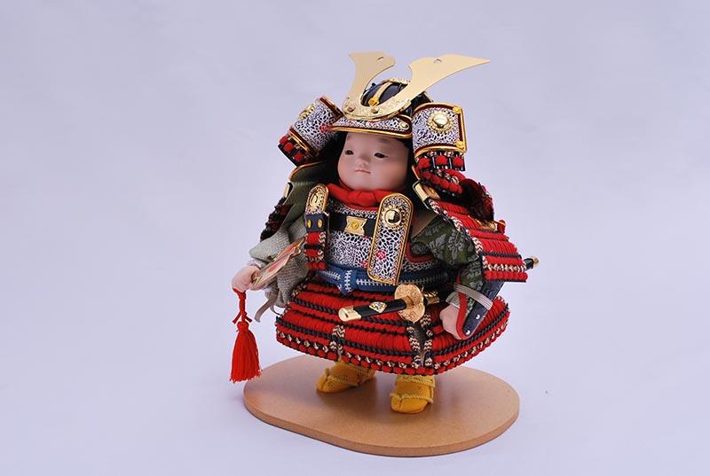 龍平出飾り(鎧着大将)
