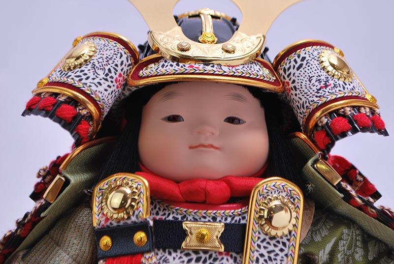 龍平六角ケース入り(鎧着大将)