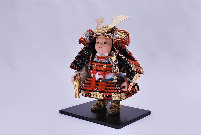 駿緋威平飾り(鎧着大将)