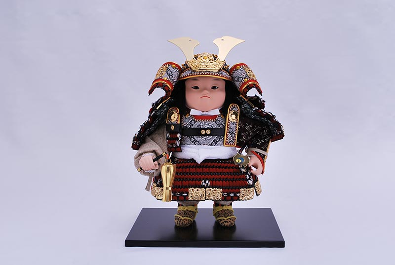 駿茜威出飾り(鎧着大将)