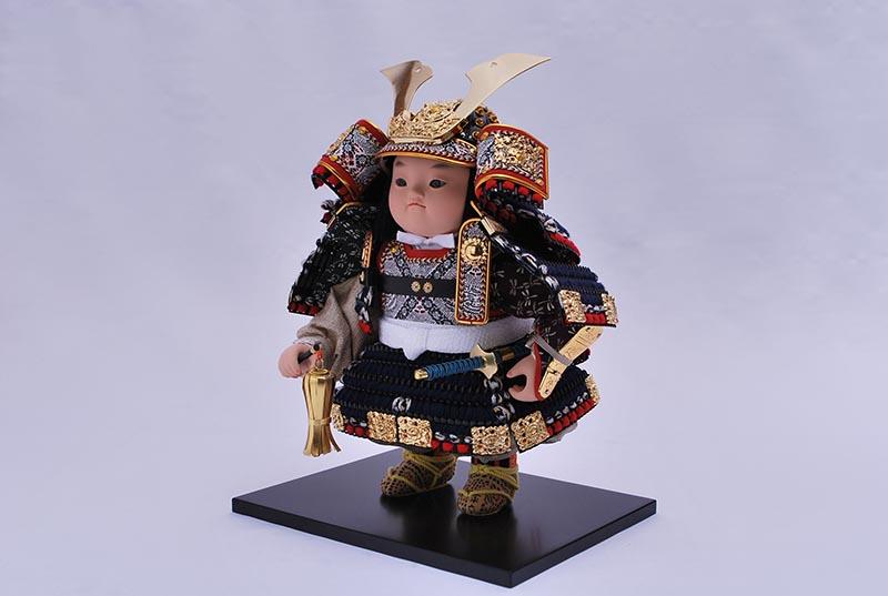 駿紺糸威平飾り(鎧着大将)