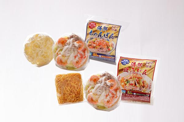送料込みでお得! 海鮮具入りちゃんぽん,皿うどん各3食 ※北海道、沖縄は別途1320円掛かります