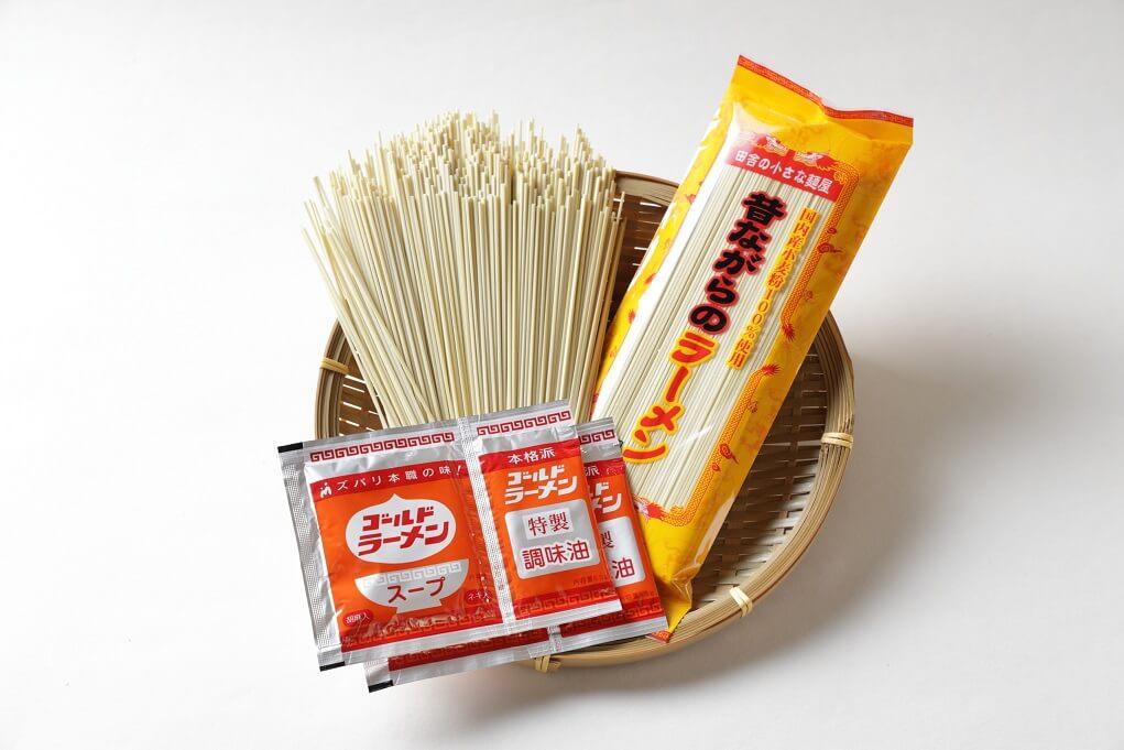 送料込み!昔ながらのラーメン2種(各4食) ※着日指定、包装不可です