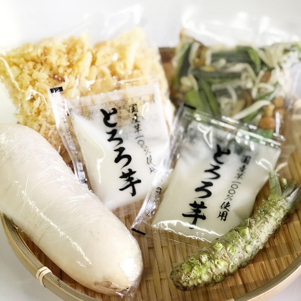 【新そば使用】味わいづくし五菜そばセット(4人前)