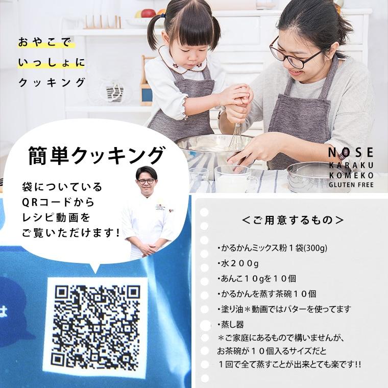 【メール便】 お菓子作り ミックス粉 かるかん  簡単!手づくりシリーズ かるかんミックス粉 3個セット