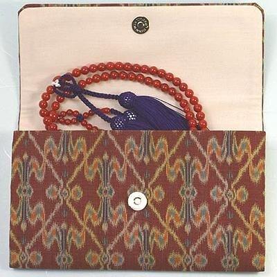 マチ付き数珠袋 約16×10cm 龍村錦-錦・太子間道(たいしかんどう)