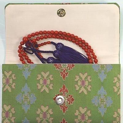 マチ付き数珠袋 約16×10cm 龍村錦-経錦・天平双華文錦(てんぴょうそうかもんにしき)