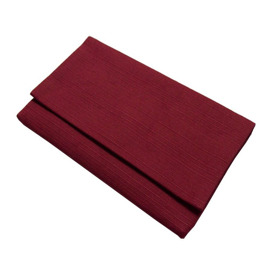 【在庫限特価】マチ無し数珠袋『萩』紬風無地 約17×10cm マジックテープ式