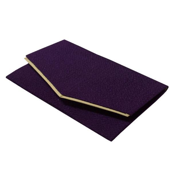 【在庫限特価】マチ無し数珠袋 ちりめん『かつら』 約15×9cm マジックテープ [紫/ピンク/黒] 【女性用片手/単輪数珠向け】