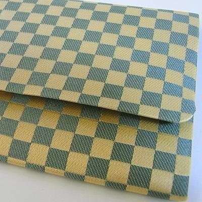 【在庫限】数珠袋 市松柄(青色) 約16×9.5cm