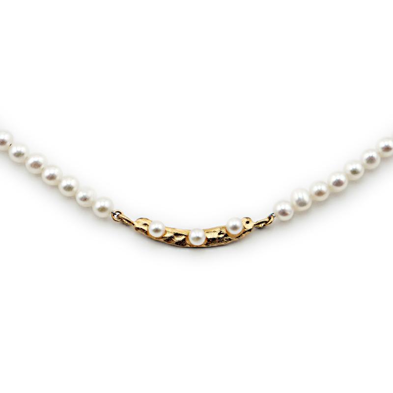 【一点物】【お買い得プライス】淡水パール ベビーパール デザインネックレス