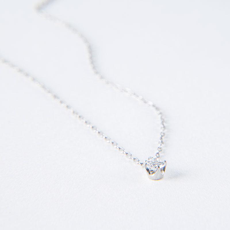 【2021年NEW YEAR企画 期間限定スペシャルプライス】【数量限定】【品質保証付き】1粒ダイヤモンド ネックレス 0.1ct 40cm プラチナ950