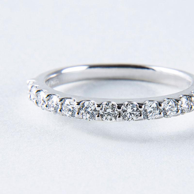 【2021年NEW YEAR企画 期間限定スペシャルプライス】【数量限定】【品質保証付き】ハーフエタニティ リング ダイヤモンド0.5ct プラチナ950