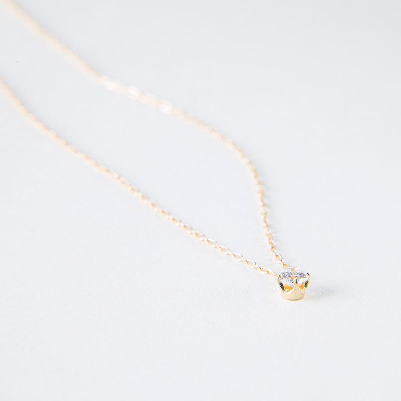 【2021年NEW YEAR企画 期間限定スペシャルプライス】【数量限定】【品質保証付き】1粒ダイヤモンド ネックレス 0.1ct 40cm K18イエローゴールド