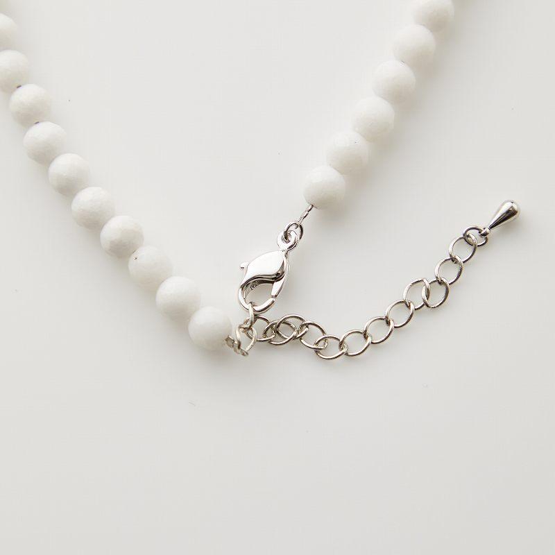 【OUTLET】【お買い得プライス】ホワイトアゲート×ターコイズ×ムーンストーンデザインネックレス