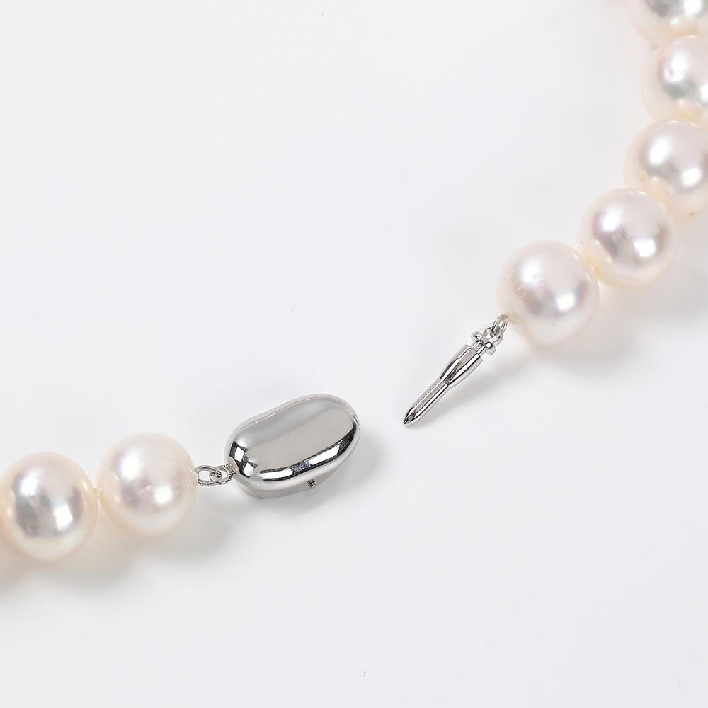 淡水大珠パール ホワイト オールノット仕上げネックレス
